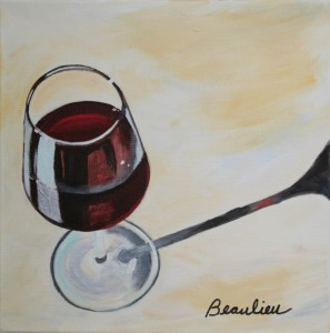 Wine glass andre beaulieu studio for Acrylic paint on wine glasses