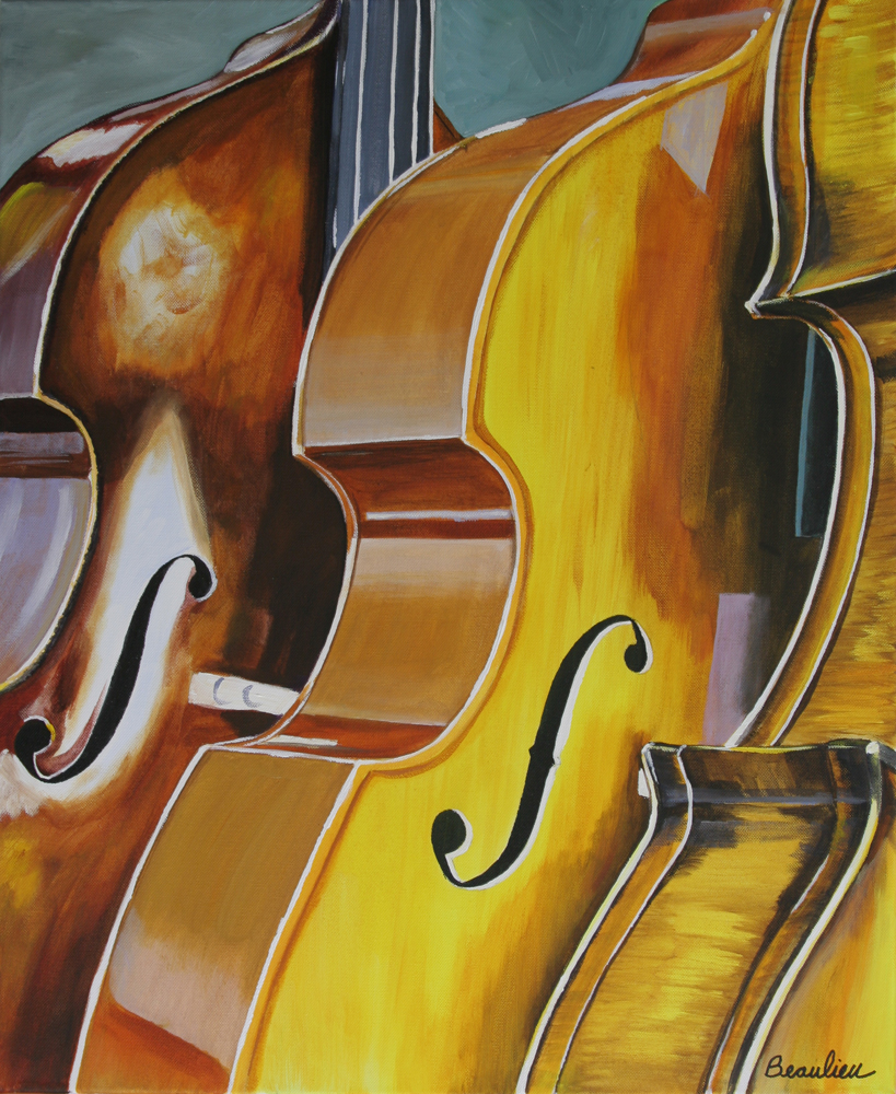 "© Andre Beaulieu, Cello Trio 2, 24"" x 19.5"", acrylic"