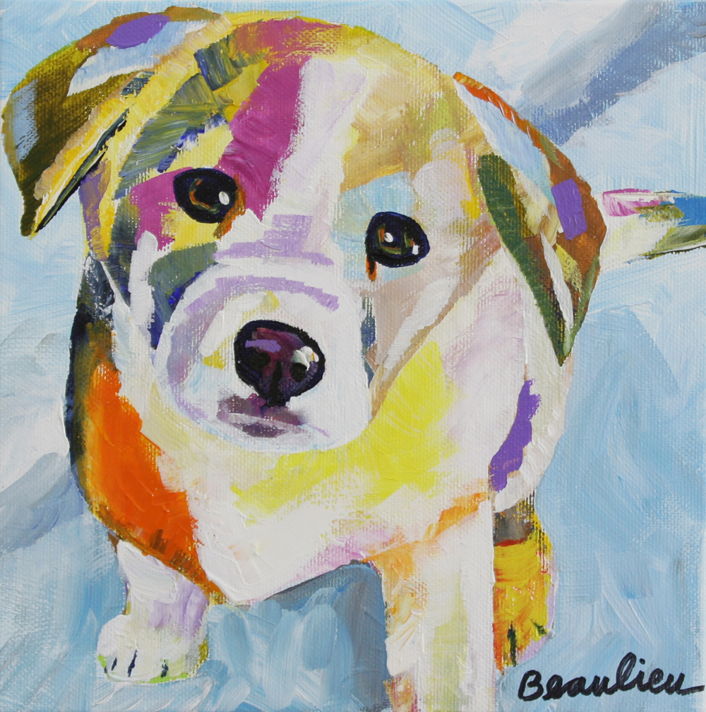 Dog andre beaulieu studio for Dog painting artist