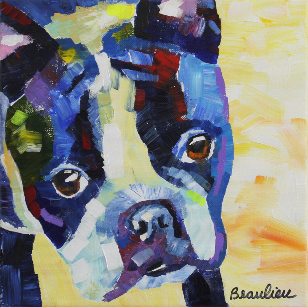 "© Andre Beaulieu, Cutest Boston, 10"" x 10"", acrylic"