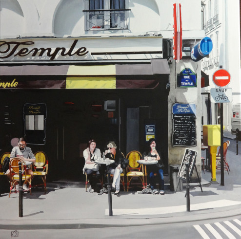 Cafe Le Troquet du Temple . (c) 2014 . Andre Beaulieu