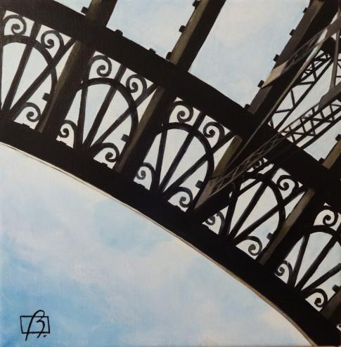 Eiffel Tower Detail . (c) 2015 . Andre Beaulieu