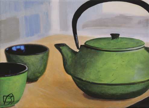 Japanese Tea Pot . (c) 2015 . Andre Beaulieu