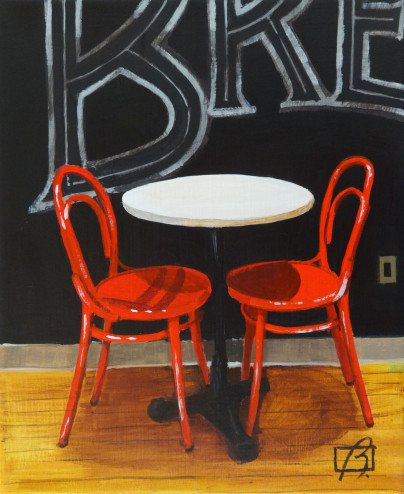 Cafe Chairs . (c) 2015 . Andre Beaulieu