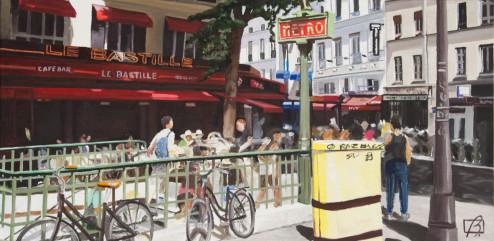 Metro Bastille . (c) 2015 . Andre Beaulieu