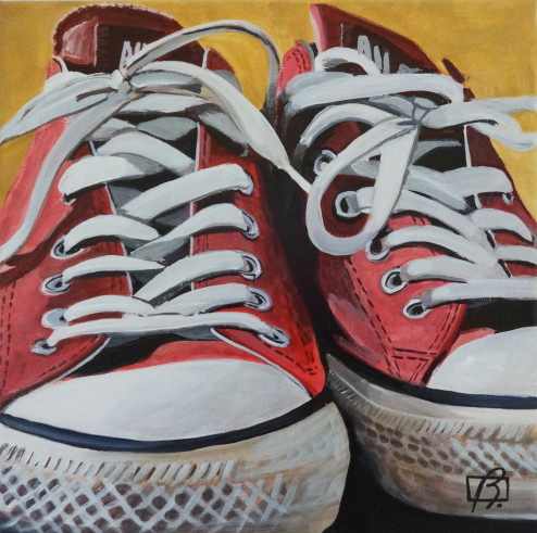 Orange Converse . (c) 2015 . Andre Beaulieu