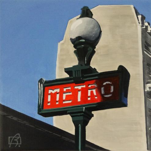 Paris Metro II . (c) 2015 . Andre Beaulieu
