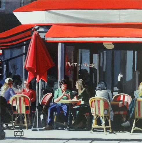 Cafe Saint-Augustin . (c) 2015 . Andre Beaulieu